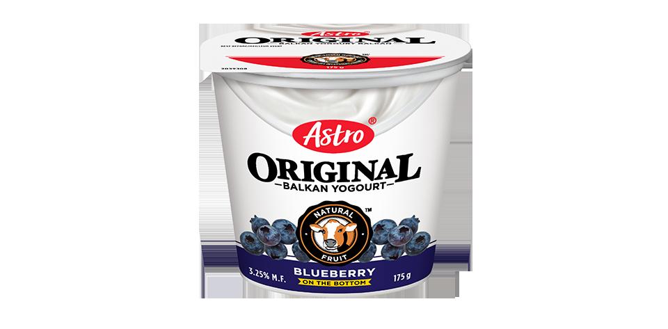 Astro Original Balkan Fruit on the Bottom Blueberry 175 g