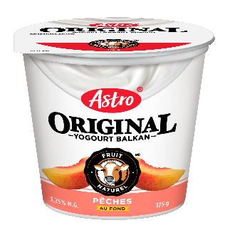 Astro® Original Balkan Fruits au fond Pêches coupe individuelle de 175 g