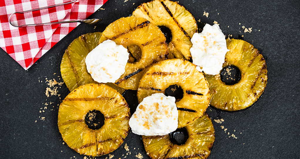 Grilled Pineapple with Balkan Yogourt
