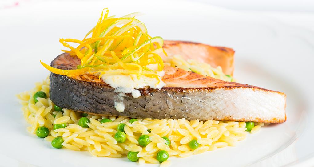 Salmon Steaks in Orange-Lime Marinade