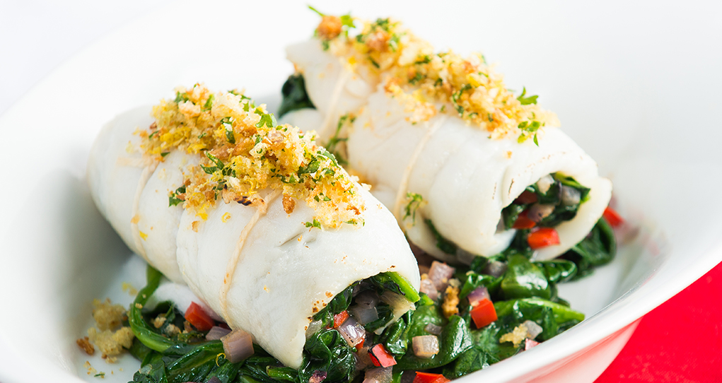 Spinach Stuffed Sole