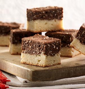 Barres à la noix de coco, au chocolat et à la vanille