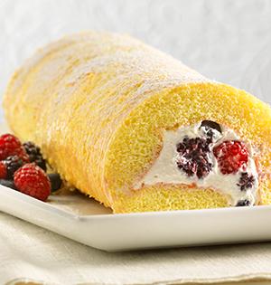 Gâteau roulé aux fruits