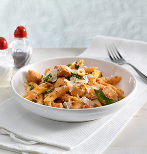 Chicken and Penne in Creamy Vodka Rose Sauce
