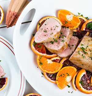 Yogourt and Orange Marinated Pork Tenderloin