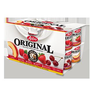 Astro Original Balkan Fruit on the Bottom Strawberry / Raspberry / Black Cherry / Nectarine 12 X 100 g