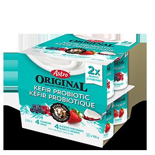 Kéfir probiotique Astro Original Fraises / Bleuets Grenades 8 x 100 g