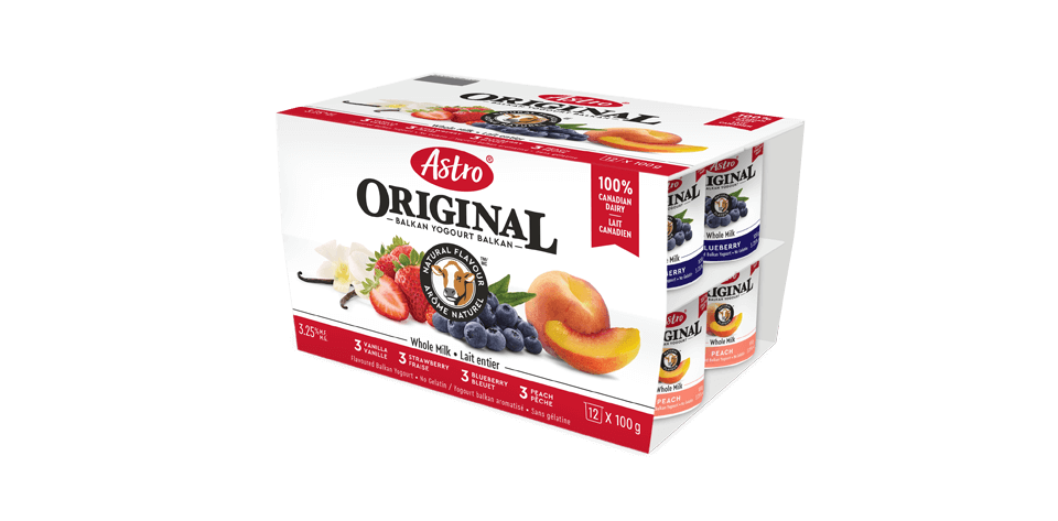 Astro® Original Balkan Flavoured Peach / Strawberry / Blueberry / Vanilla 12 x 100 g