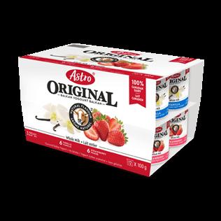 Astro® Original Balkan Vanilla Cream / Strawberry 12 x 100 g
