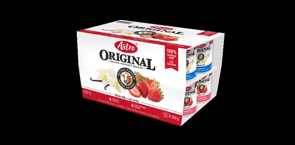 Astro® Original Balkan Crème à la vanille / Délice aux fraises 12 x 100 g