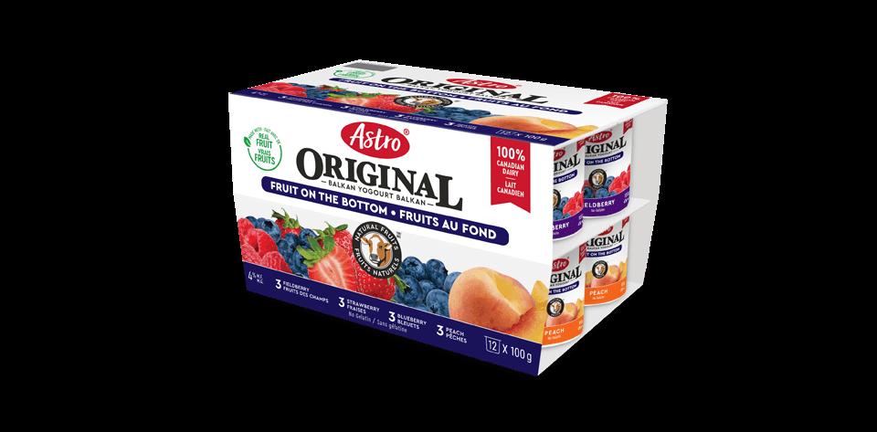 Astro® Original Balkan Fruit on the Bottom Peach / Strawberry / Blueberry / Fieldberry 12 x 100 g