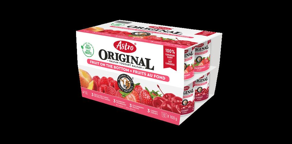Astro® Original Balkan Fruit on the Bottom Strawberry / Raspberry / Black Cherry / Nectarine 12 x 100 g