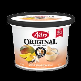Saveurs gourmandes Astro® Original crème mangue vanille 6 % 500 g
