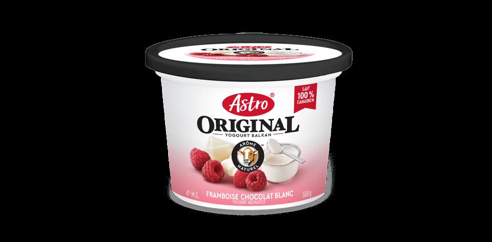Saveurs gourmandes Astro® Original framboise chocolat blanc 6 % 500 g