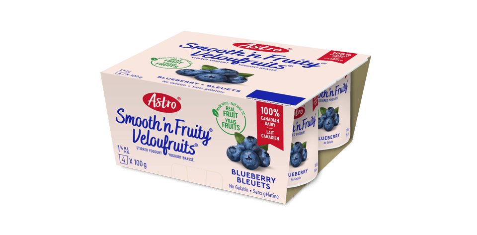 Astro® Smooth 'n Fruity® Blueberry 4 x 100 g