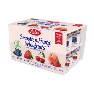 Astro® Smooth 'n Fruity® Strawberry / Blueberry / Cherry / Peach Raspberry 12 x 100 g