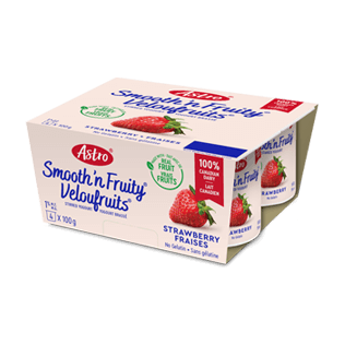Astro® Smooth 'n Fruity® Strawberry 4 x 100 g