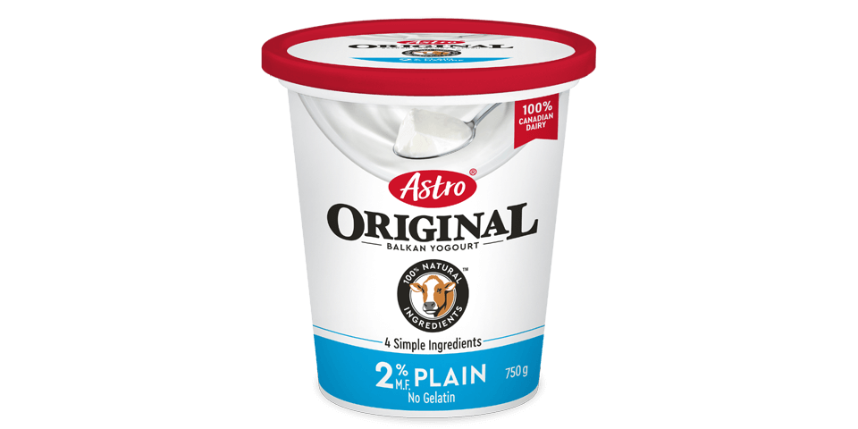 Astro Original Plain 2% 750g