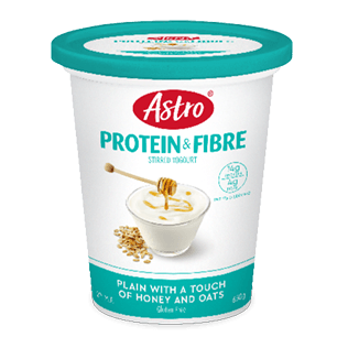 Astro® Protein & Fibre Plain with a Touch of Honey and Oats