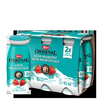 Yogourt A Boire Kefir Probiotic Fraises Astro Original